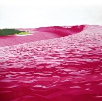 Santiago Talavera. Tsunami Rosa (Óleo sobre lienzo 200 x 200 cm) XVII Certamen de Artes Plásticas UNED (2007)
