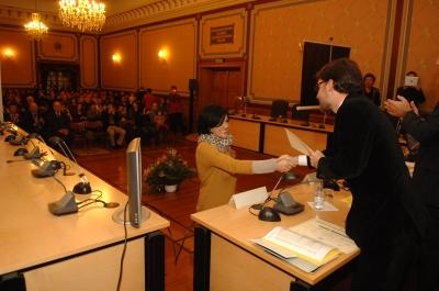 Entrega de diplomas en Bergara